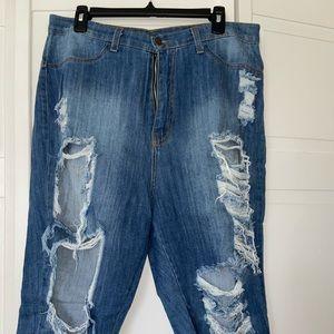 Fashion Nova High Waisted Denim Shorts‼️✨